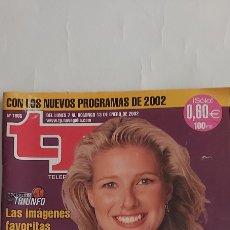 Coleccionismo de Revista Teleprograma: TP TELEPROGRAMA 1866 7 / 13 ENERO 2002. Lote 253253380