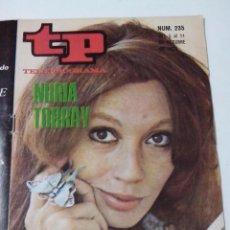Collectionnisme de Magazine Teleprograma: REVISTA TP TELE PROGRAMA AÑO 1970 Nº 235 NURIA TORRAY. Lote 253933985