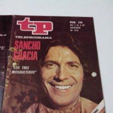Collectionnisme de Magazine Teleprograma: REVISTA TP TELE PROGRAMA AÑO 1970 Nº 239 SANCHO GRACIA EN LOS 3 MOSQUETEROS. Lote 253934575