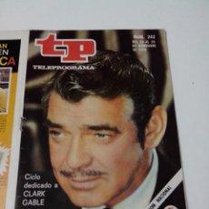 Collectionnisme de Magazine Teleprograma: REVISTA TP TELE PROGRAMA AÑO 1970 Nº 242 CLARK GABLE. Lote 253934960