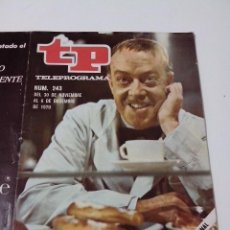 Collectionnisme de Magazine Teleprograma: REVISTA TP TELE PROGRAMA AÑO 1970 Nº 243 ANTONIO GARISA. Lote 253935175
