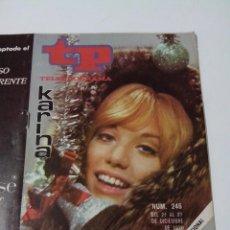 Collectionnisme de Magazine Teleprograma: REVISTA TP TELE PROGRAMA AÑO 1970 DICIEMBRE Nº 246 KARINA. Lote 253935775