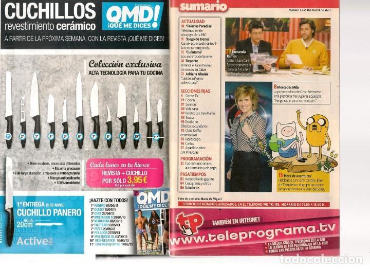 Coleccionismo de Revista Teleprograma: TP. TELEPROGRAMA. Nº 2453. MERCEDES MILÁ / BELÉN ESTEBAN. 8 ABRIL 2013.(ST/SL) - Foto 2 - 44755377