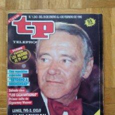 Coleccionismo de Revista Teleprograma: REVISTA TP TELEPROGRAMA 1243. ALASKA. FALCON CREST. LUCIA BOSE. JOAQUIN PRAT. JACK LEMMON. Lote 260810190