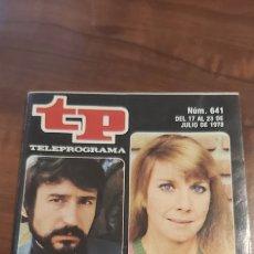 Coleccionismo de Revista Teleprograma: REVISTA TP TELEPROGRAMA Nº 641 MEMORIAS DEL CINE ESPAÑOL- TIENE EL RECORTABLE Nº3 DE MAZINGER Z. Lote 261833905