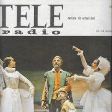 Coleccionismo de Revista Teleprograma: REVISTA TELERADIO Nº 360, CANTINFLAS. Lote 265832604
