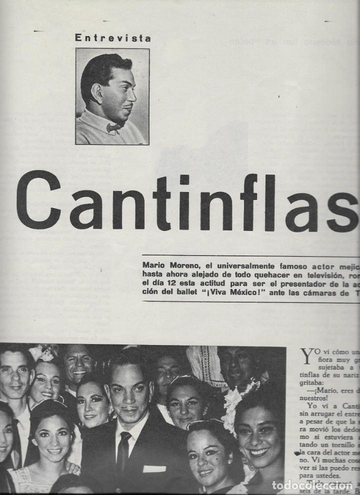 Coleccionismo de Revista Teleprograma: REVISTA TELERADIO Nº 360, CANTINFLAS - Foto 2 - 265832604