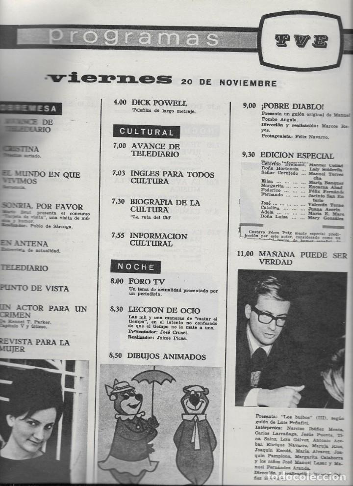 Coleccionismo de Revista Teleprograma: REVISTA TELERADIO Nº 360, CANTINFLAS - Foto 3 - 265832604