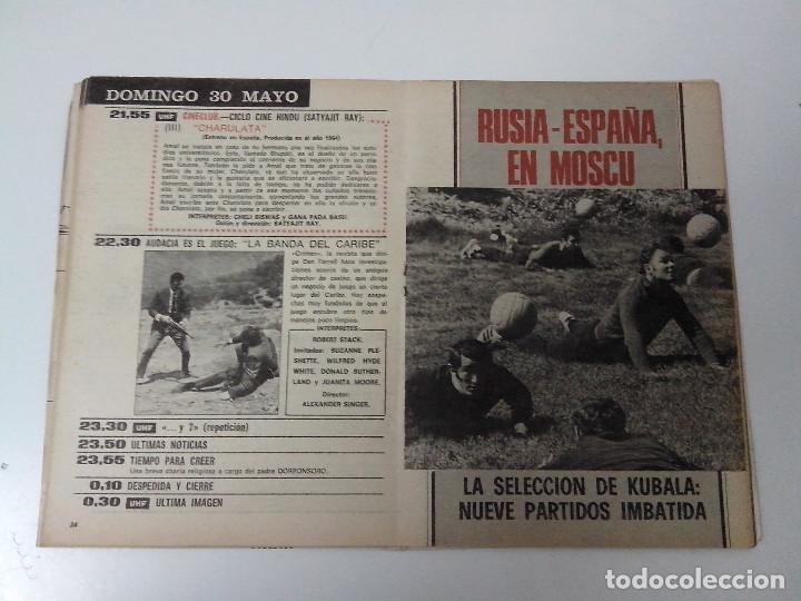 Coleccionismo de Revista Teleprograma: REVISTA TP TELEPROGRAMA Nº 268 MAYO 1971 PIRRI GALLEGO CLARAMUNT RUSIA ESPAÑA - Foto 2 - 266454203