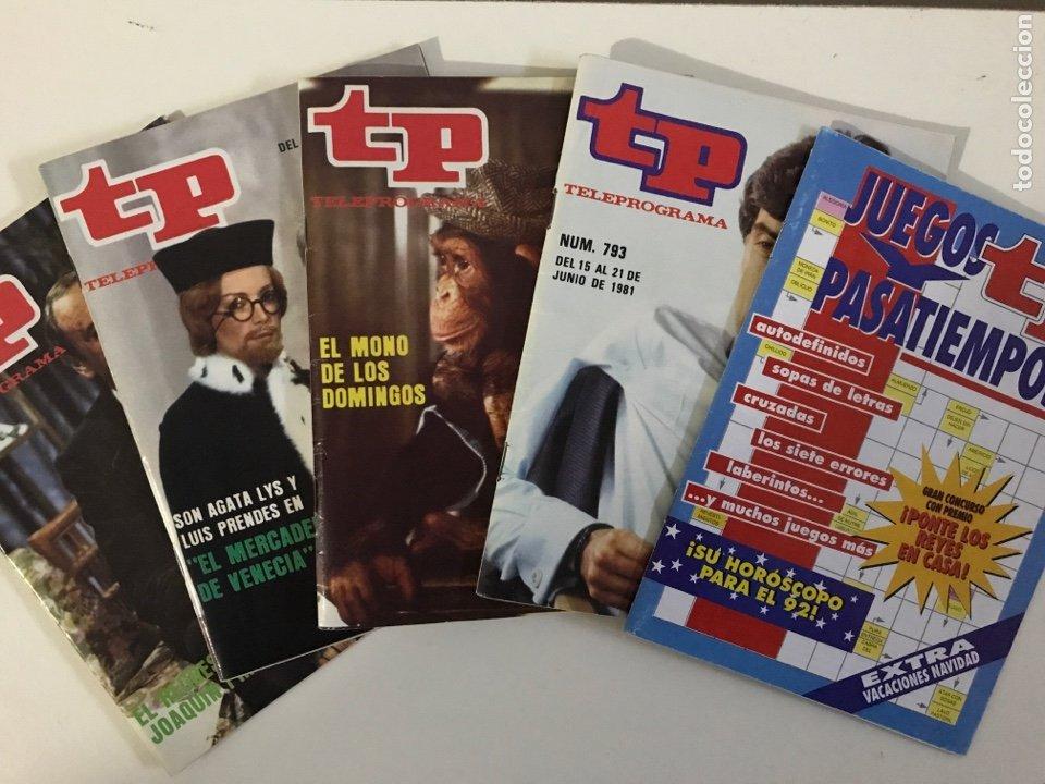 Coleccionismo de Revista Teleprograma: LOTE 5 REVISTAS TP 1981 - TELEPROGRAMA NUMERO 793 806 807 808 EL MONO DE LOS DOMINGOS PASATIEMPOS - Foto 2 - 225382763