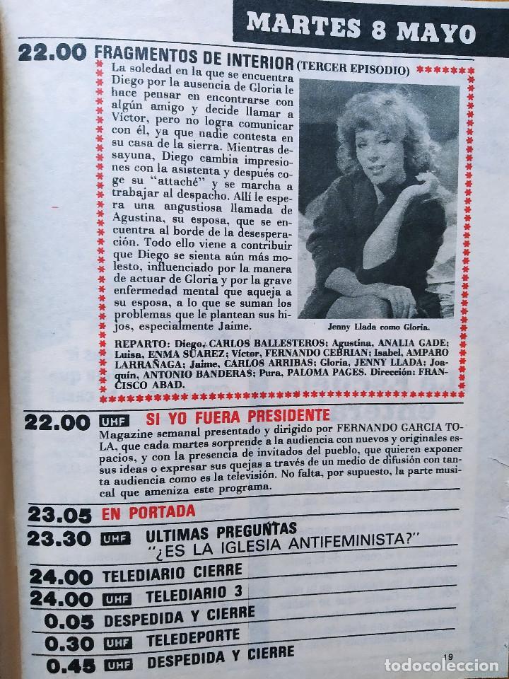 Coleccionismo de Revista Teleprograma: REVISTA TP TELEPROGRAMA 944. EL PIRATA FRANCO NERO. EL RETORNO DEL JEDI. MOTO VESPA. HOTEL - Foto 2 - 268952439