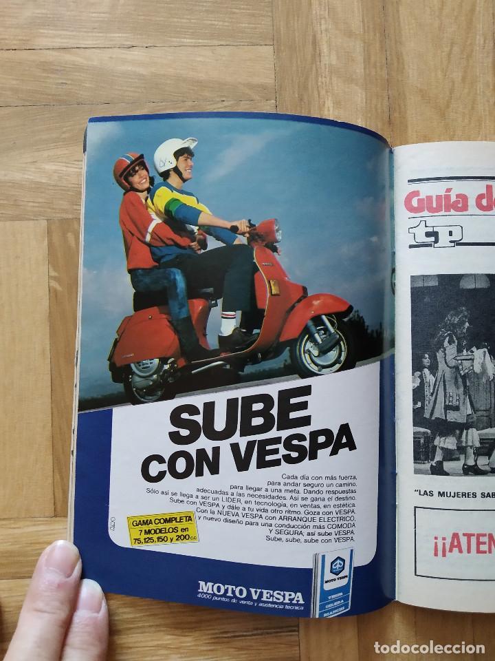 Coleccionismo de Revista Teleprograma: REVISTA TP TELEPROGRAMA 944. EL PIRATA FRANCO NERO. EL RETORNO DEL JEDI. MOTO VESPA. HOTEL - Foto 4 - 268952439