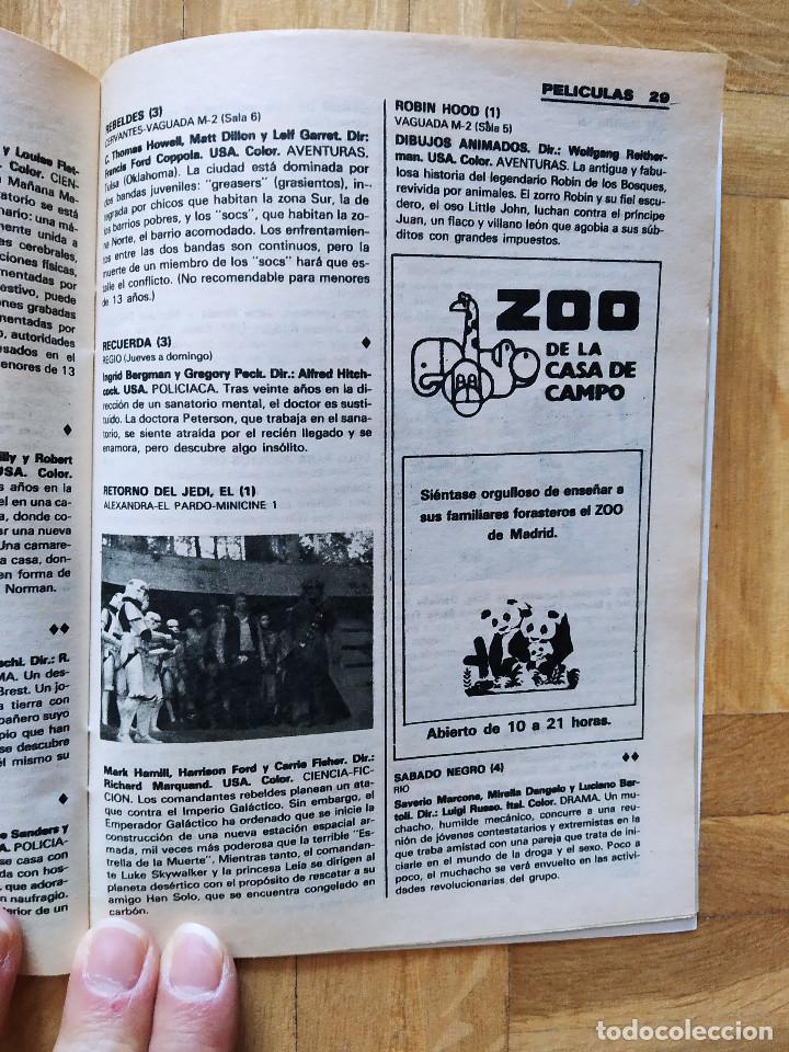 Coleccionismo de Revista Teleprograma: REVISTA TP TELEPROGRAMA 944. EL PIRATA FRANCO NERO. EL RETORNO DEL JEDI. MOTO VESPA. HOTEL - Foto 5 - 268952439