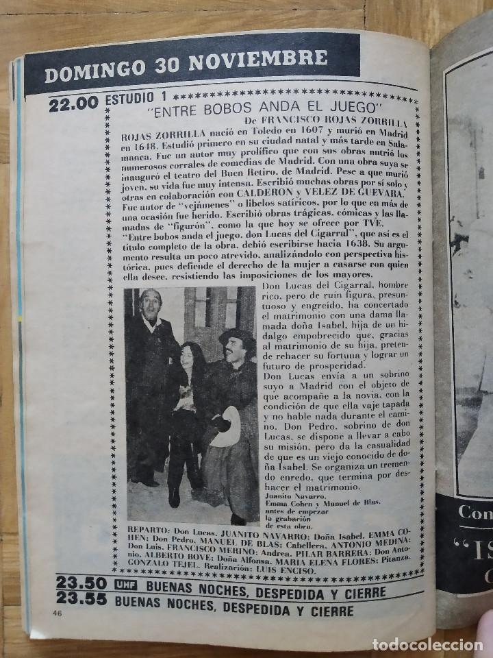 Coleccionismo de Revista Teleprograma: REVISTA TP TELEPROGRAMA 964 UNA ISLA RESERVADA PARA UHF. ENTRE BOBOS ANDA EL JUEGO, JUANITO NAVARRO - Foto 3 - 268954789