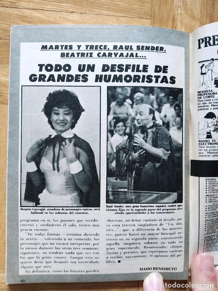 Coleccionismo de Revista Teleprograma: REVISTA TP TELEPROGRAMA 855 UN, DOS, TRES. HERMANAS TACAÑONAS.MAYRA. RAUL SENDER BEATRIZ CARVAJAL - Foto 5 - 269044553
