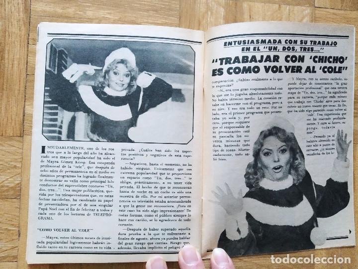 Coleccionismo de Revista Teleprograma: REVISTA TP TELEPROGRAMA UN, DOS, TRES. MAYRA GOMEZ KEMP CHICHO IBAÑEZ SERRADOR TERESA RABAL MARADONA - Foto 3 - 269045773