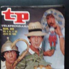 Coleccionismo de Revista Teleprograma: 1 TELEPROGRAMA ** TP ...UN DOS TRES MARTES Y TRECE ** DE MADRID - Nº 848 .. DEL 5 AL 11 JULIO 1982-. Lote 269616378