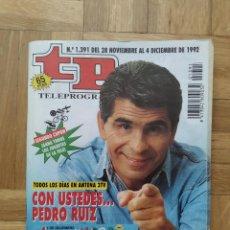 Coleccionismo de Revista Teleprograma: REVISTA TP TELEPROGRAMA 1391 PEDRO RUIZ PALOMA SAN BASILIO HARRISON FORD. Lote 275485753