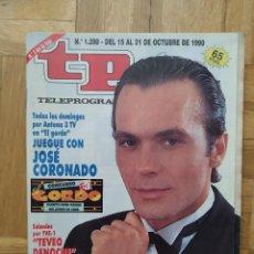 Coleccionismo de Revista Teleprograma: REVISTA TP TELEPROGRAMA 1280 JOSE CORONADO ELS COMEDIANTS HILARIO PINO ROLLING STONES. Lote 275607703