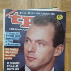 Coleccionismo de Revista Teleprograma: REVISTA TP TELEPROGRAMA 1245 HILARIO PINO MICHAEL CAINE KIM NOVAK GRACE KELLY ANA BLANCO AGUSTIN BRA. Lote 275609513