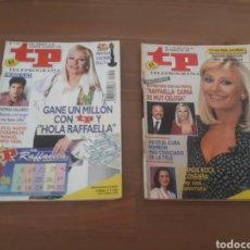 Coleccionismo de Revista Teleprograma: 2 TP TELEPROGRAMA NUMEROS 1407 Y 1451 AÑO 1993 Y 1994 RAFFAELLA CARRA. Lote 276078323