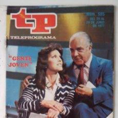 Colecionismo da Revista Teleprograma: REVISTA TP TELEPROGRAMA AÑO 1977 Nº 585 GENTE JOVEN. Lote 276079028