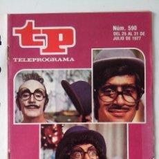 Colecionismo da Revista Teleprograma: REVISTA TP TELEPROGRAMA AÑO 1977 Nº 590 UN DOS TRES DE VACACIONES. Lote 276079528