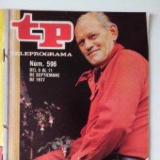 Colecionismo da Revista Teleprograma: REVISTA TP TELEPROGRAMA AÑO 1977 Nº 596 NUNCA SEGUNDAS SAGAS.... Lote 276080118