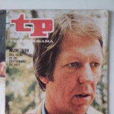 Colecionismo da Revista Teleprograma: REVISTA TP TELEPROGRAMA AÑO 1977 Nº 598 SE CAMBIA MAESTRA POR MAESTRO. Lote 276080188