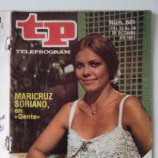 Colecionismo da Revista Teleprograma: REVISTA TP TELEPROGRAMA AÑO 1977 Nº 601 MARICRUZ SORIANO. Lote 276080983