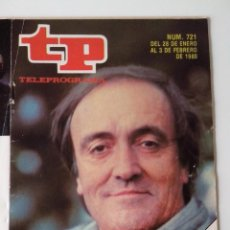 Coleccionismo de Revista Teleprograma: REVISTA TP TELEPROGRAMA AÑO 1980 Nº 721 FELIX REY DE LA SELVA. Lote 278530503