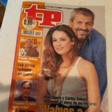 Coleccionismo de Revista Teleprograma: TP NÚMERO 2095; 29 DE MAYO A 4 DE JUNIO DE 2008. CARLOS SOBERA Y MAR SAURA. Lote 278841703