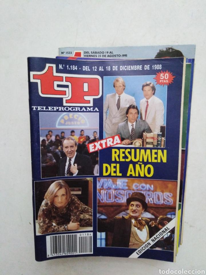 LOTE DE 10 REVISTAS TELEPROGRAMA ( TP ) AÑOS 1988 ,1989 ,1990, 1991, 1992 Y 1995 (Coleccionismo - Revistas y Periódicos Modernos (a partir de 1.940) - Revista TP ( Teleprograma ))