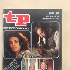 Coleccionismo de Revista Teleprograma: TP 870 AÑO 1982 EXTRA LO MEJOR Y LO PEOR DEL AÑO. Lote 284742728