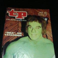Coleccionismo de Revista Teleprograma: TP, TELEPROGRAMA N°801,AGOSTO 1981,PERFECTO ESTADO. ÑZ. Lote 287962613