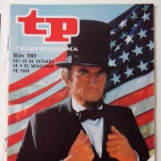 Coleccionismo de Revista Teleprograma: REVISTA TP TELEPROGRAMA AÑO 1984 Nº 969 GREGORY PECK EN AZULES Y GRISES PORTADA DESGRAPADA. Lote 288097043