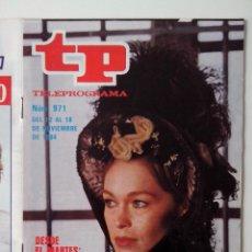 Coleccionismo de Revista Teleprograma: REVISTA TP TELEPROGRAMA AÑO 1984 Nº 971 MARISOL EN MARIANA PINEDA. Lote 288097308