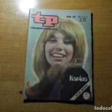 Colecionismo da Revista Teleprograma: TP TELEPROGRAMA Nº 261 KARINA ABRIL 1971. Lote 291940228