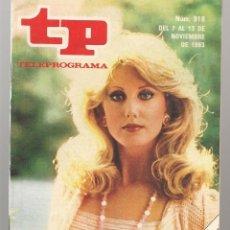 Coleccionismo de Revista Teleprograma: TP. TELEPROGRAMA. Nº 918. ¨FLAMINGO ROAD ¨. 13 NOVIEMBRE 1983. (P/D58). Lote 293924088