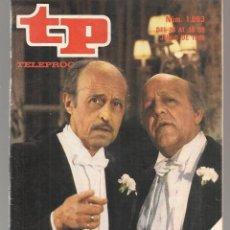 Coleccionismo de Revista Teleprograma: TP. TELEPROGRAMA. Nº 1003. JUANJO MENÉNDEZ Y FERNANDO DELGADO. 30 JUNIO 1985. (P/D58). Lote 293924368
