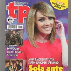 Coleccionismo de Revista Teleprograma: TP. TELEPROGRAMA. Nº 2625. ANNA SIMON / TOM CRUISE . 31 JULIO 2016. (P/D58). Lote 293925098