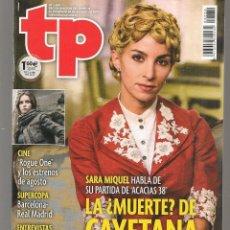 Coleccionismo de Revista Teleprograma: TP. TELEPROGRAMA. Nº 2680. SARA NIQUEL / SUPER COPA: BARCELONA-REAL MADRID. 20 AGOS 2017.(P/D58). Lote 293925768