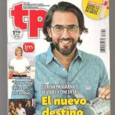 Coleccionismo de Revista Teleprograma: TP. TELEPROGRAMA. Nº 2632. MÁXIM HUERTA. 18 SEPTIEMBRE 2016.(P/C42). Lote 294021218