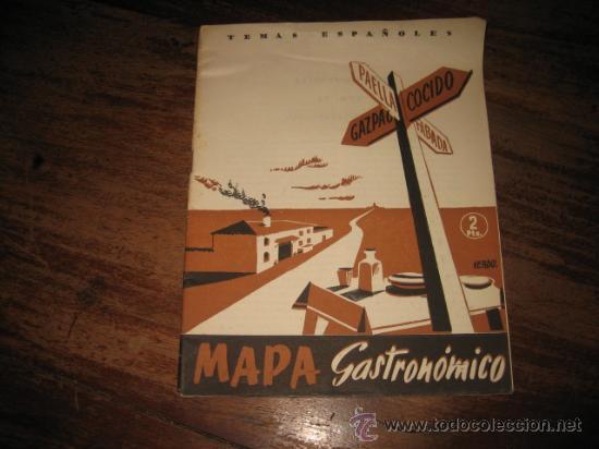 TEMAS ESPAÑOLES Nº33 MAPA GASTRONOMICO (Papel - Revistas y Periódicos Modernos (a partir de 1.940) - Revista Temas Españoles)