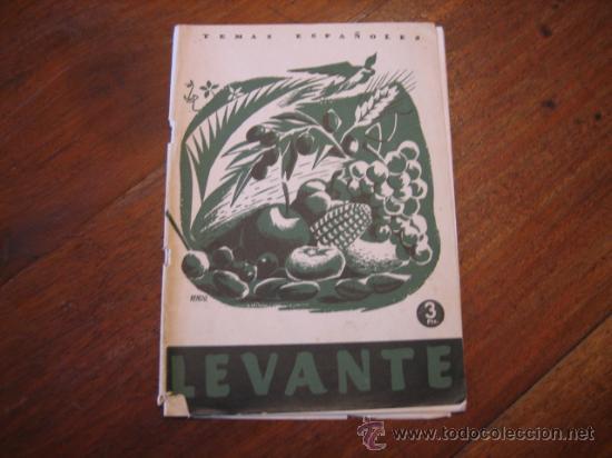 TEMAS ESPAÑOLES Nº114 LEVANTE (Papel - Revistas y Periódicos Modernos (a partir de 1.940) - Revista Temas Españoles)