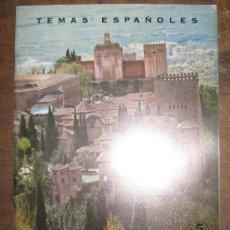 Collectionnisme de Magazine Temas Españoles: GRANADA. Mª.J.ARREDONDO..TEMAS ESPAÑOLES Nº 499. DE CONSERVACIÓN. 1969... Lote 26612518