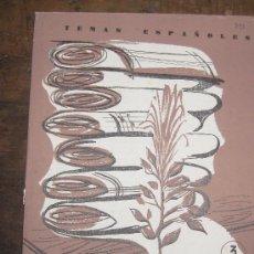 Coleccionismo de Revista Temas Españoles: FIBRAS TEXTILES POR LUIS AGUIRRE. TEMAS ESPAÑOLES Nº 393. 1959.. Lote 26375163