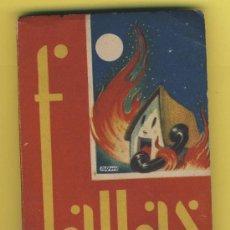 Coleccionismo de Revista Temas Españoles: REVISTA FALLAS- LIBRO FALLERO 1952 J.C.F.ILUSTRACIONES FALLA-VALENCIA. Lote 41859899