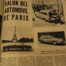 Coleccionismo de Revista Temas Españoles: ACTUALIDAD ESPAÑOLA Nº 354 16-10-1958 - HERGE JO ZETTE - PIO XII - ESPECIAL SALON AUTOMOVIL DE PARIS. Lote 33103085