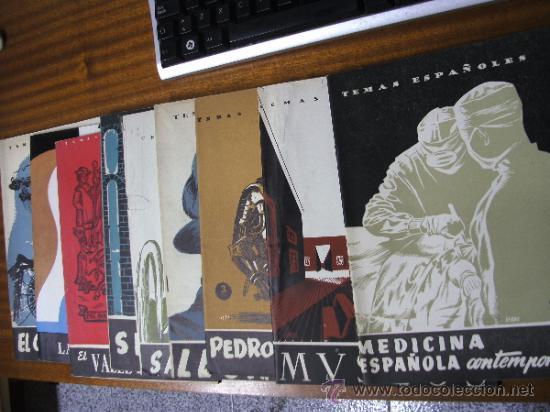 TEMAS ESPAÑOLES / LOTE DE 9 REVISTAS / PUBLICACIONES ESPAÑOLAS MADRID (Papel - Revistas y Periódicos Modernos (a partir de 1.940) - Revista Temas Españoles)